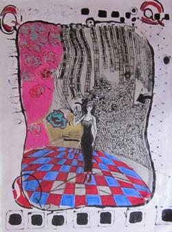 Isabelle Ribot - Carte 1 - Jeu de Dame - Isabelle Ribot
