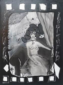 Isabelle Ribot - Carte 13 - Jeu de Dame - Isabelle Ribot