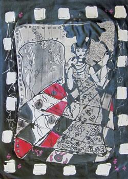 Isabelle Ribot - Carte 4 - Jeu de Dame - Isabelle Ribot