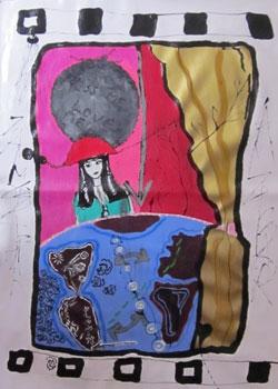 Isabelle Ribot - Carte 8 - Jeu de Dame - Isabelle Ribot