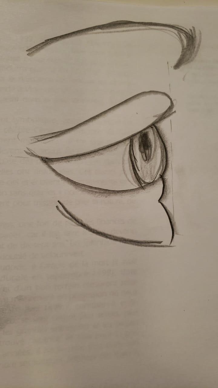 desenho olho Isabelle Ribot
